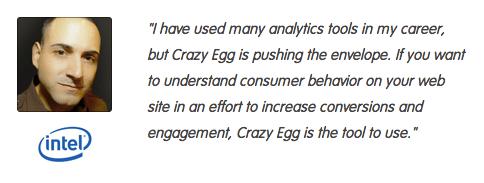 crazy egg testimonials