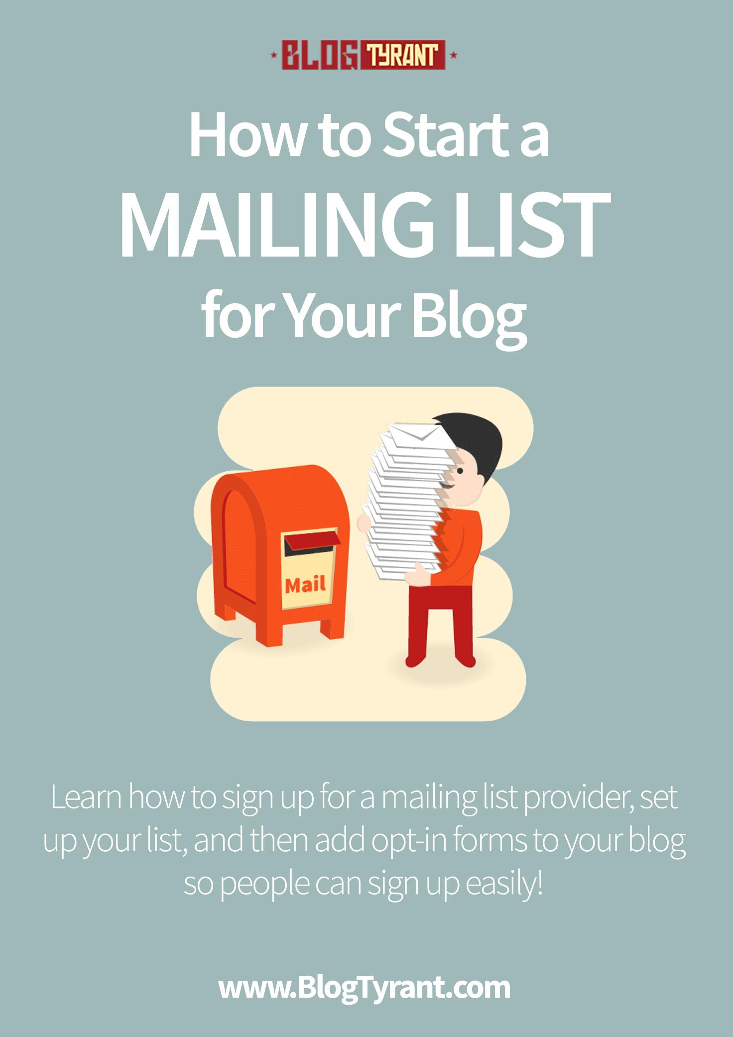 start a mailing list
