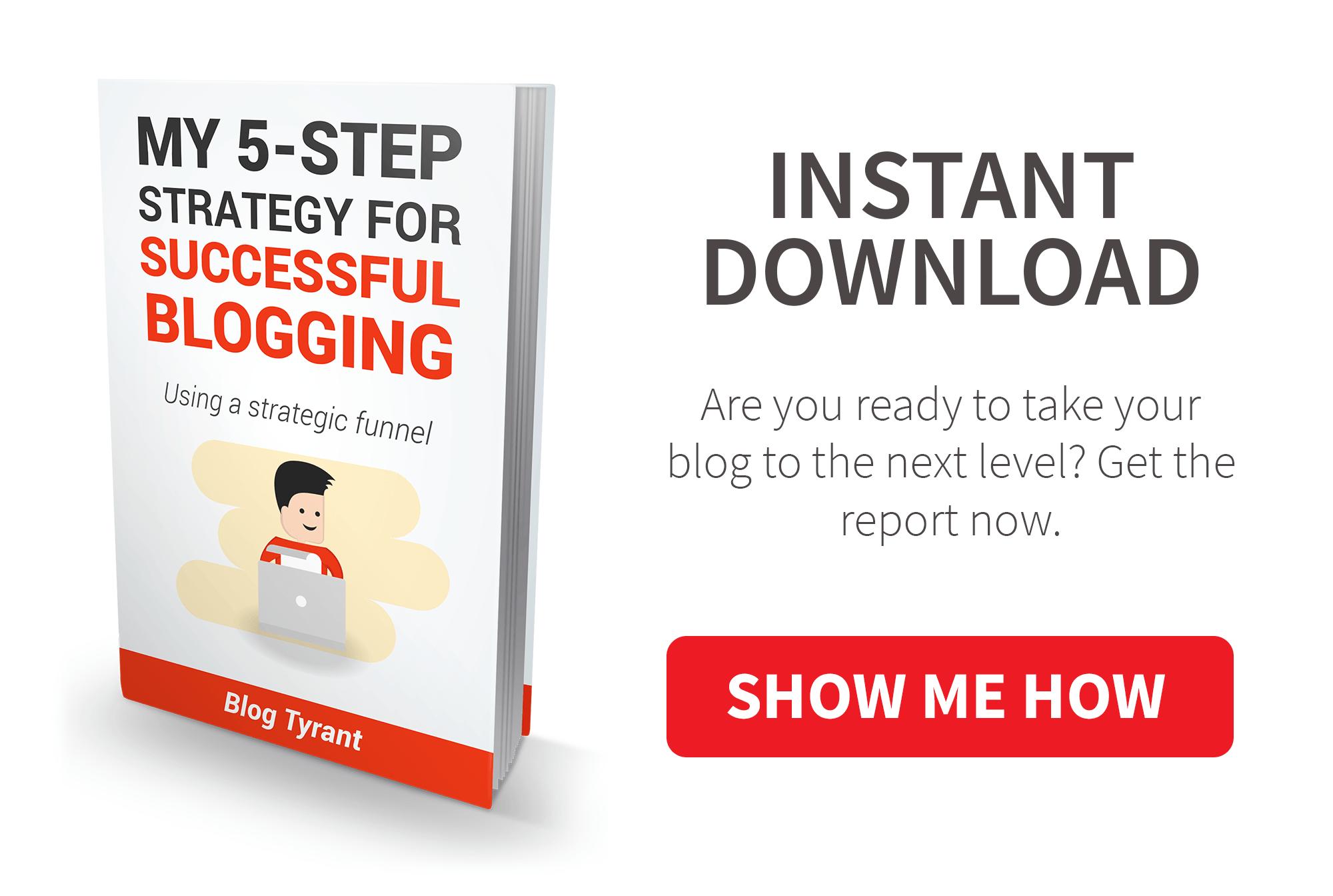 start a blog popup