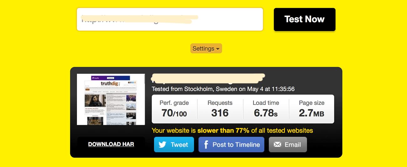 speed test political blog