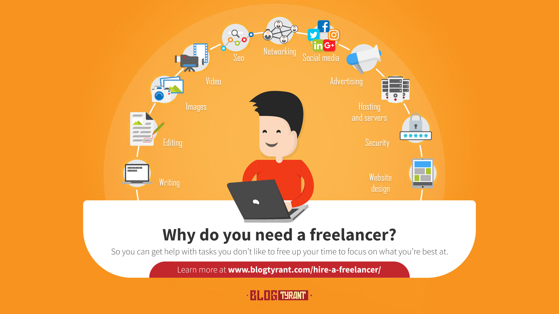 hire a freelancer graphic